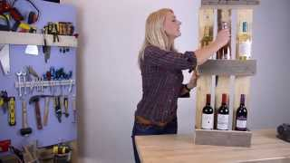 Diy Maak Je Eigen Pallet Wijnrek | Make Your Own Pallet Wine Rack