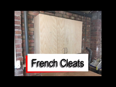 French Cleats - How to hang Wall Cupboards