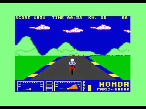 PARIS - DAKAR HONDA - COMMODORE SOFTWARE CLUB - C64 Commodore 64 gameplay
