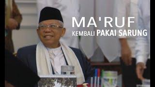 Rapat Perdana Kabinet, Wapres Ma'ruf Amin Kembali Pakai Sarung