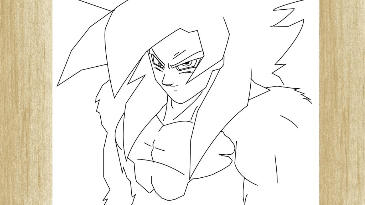 How To Draw Goku Super Sayajin 4 From Dragon Ball Gt Como