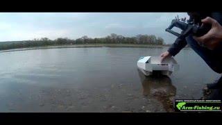 Саморобний короповий кораблик з ПВХ, перший спуск на воду і завмер споживання мотора.