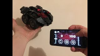 Lego App Controlled Batmobile 76112, time lapse build and test run!