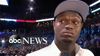 Zion Williamson emotional after becoming 1st pick