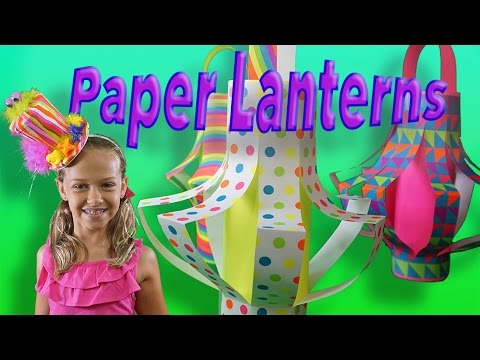 how to make a lantern out of paper youtube