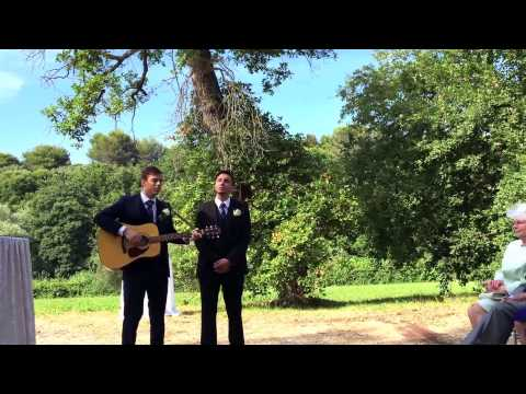From our sister's wedding, Pink Floyd's 'Wish You Were Here' by the brothers