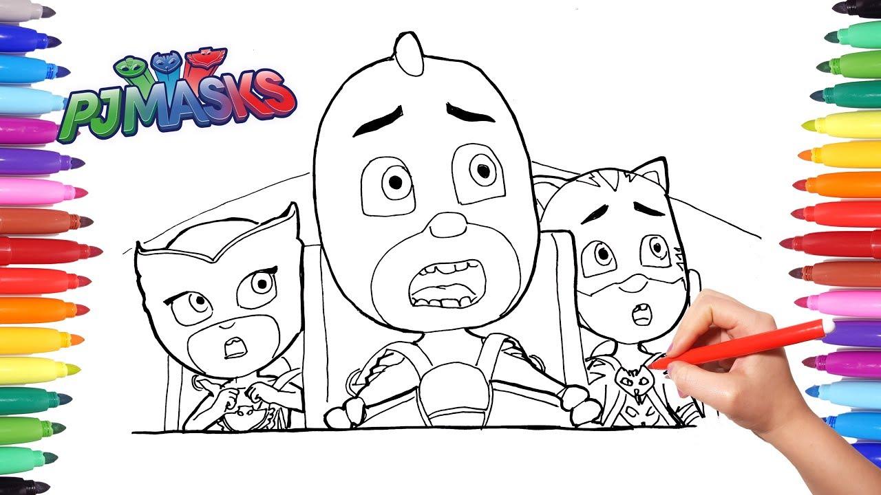 PJ MASKS Coloring Memorable Scene