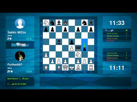 Chess Game Analysis: Furher007 Sakkir MiZúz : 10 (By ChessFriends.com)