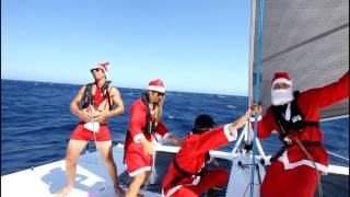 Ep. 5 Sailing Sydney to Tasmania as Santas with epic catamaran drone footage (Sail Surf Roam)