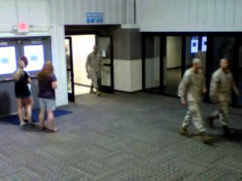 United States Marine Batallion Arrives at Rockford Airport