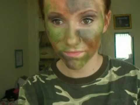 Halloween Series- Camouflage Face Paint - YouTube