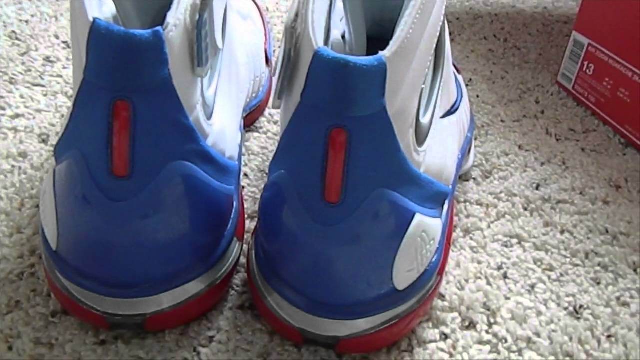8a7e57fdf794 nike air zoom huarache 2k4 uconn midnight navy university red review ...