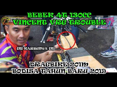 SEMPAT TROUBLE, BEBEK 130CC VRG PODIUM 1 !!! JOKI FACHRY CHILD, FULL RACE DRAGBIKE BODISA