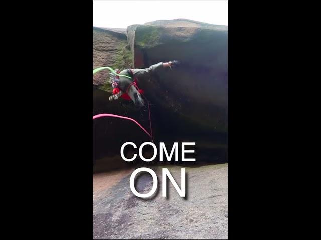 Inverted Roof Crack Climb (Kanin Koker 7c)