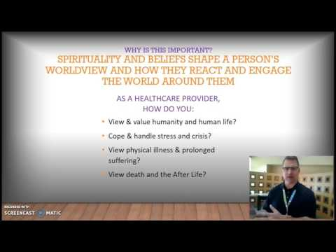 spirituality in healthcare hlt 310v Hlt-310v – spirituality in health care moral positions on a fetal abnormality case studyevery person has their own set of values, ethics, and morals that they have developed over their lifetime and has been shaped by their life experiences, the relationships in their lives and their own personal worldview and moral compass.