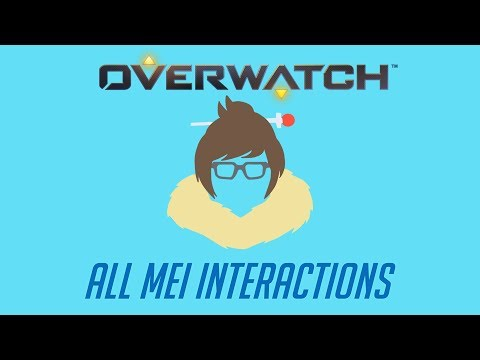 Overwatch - All Mei Interactions + Unique Kill Quote