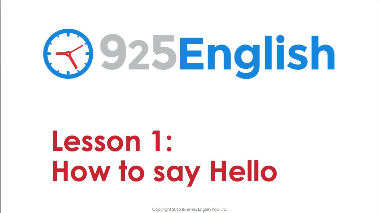 English conversation lesson how to greet people in english 925 english conversation lesson how to greet people in english 925 english lesson 1 kristyandbryce Choice Image