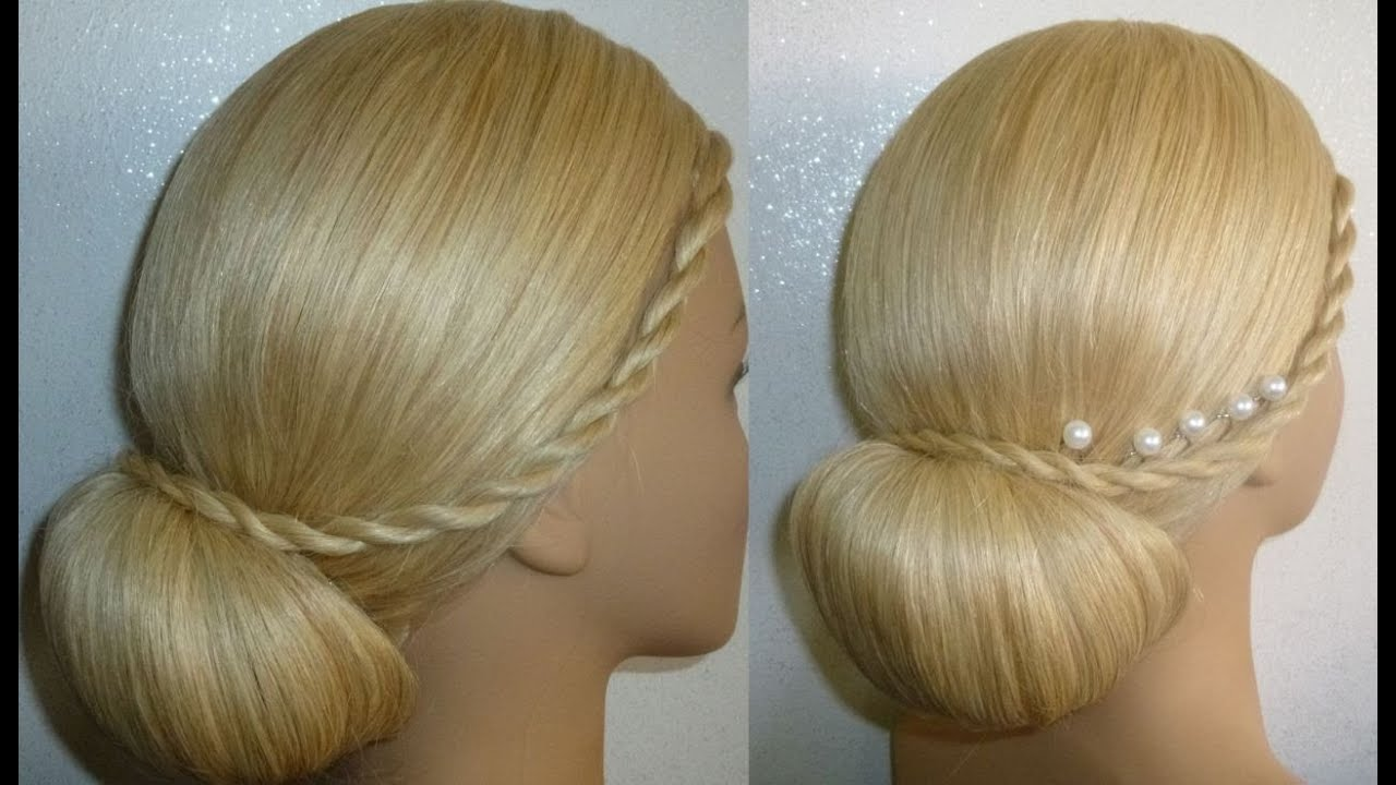 Frisur Mit Duttkissen Dutt Hochsteckfrisur Abiballfrisur Donut Hair Bun Updo Hairstyle Peinados