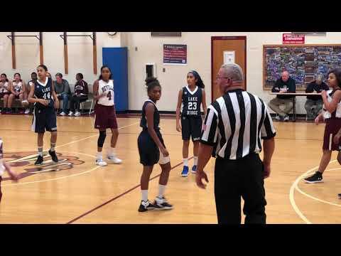 2018 - Niveda in Lake Ridge Middle School Varsity Basketball Team
