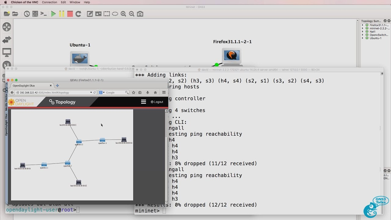 GNS3 Talks: Mininet Part 2: ODL install and integration: SDN and