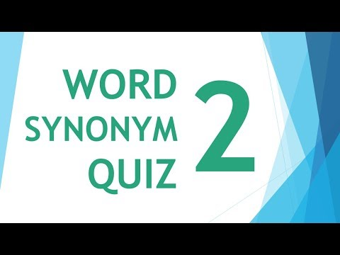 Will You Pass Word Synonym Quiz ?? Episode 02
