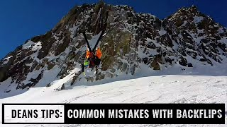 Tips With Dean: Common Mistakes With Backflips On Skis