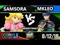 SSC 2018 Smash 4 - Samsora (Peach) Vs. FOX MVG | MKLeo (Marth) - Wii U Grand Finals
