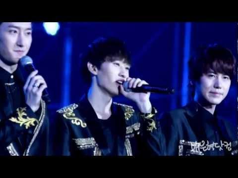 [April'sEncounter]20121028 ZHENJIANG Music Festival SJ-M Talk Part CuteHYUK