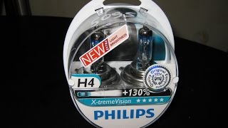 Тест галогеновых ламп Philips Extreme vision +130 vs Philips standart