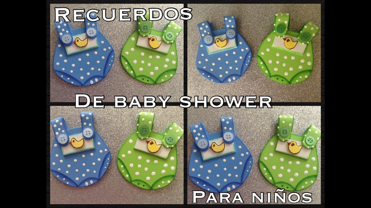 recuerdos de baby shower para ni o en foamy o goma eva youtube
