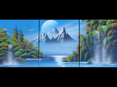 Spray paint art – Amazing nature painting – made by street artist