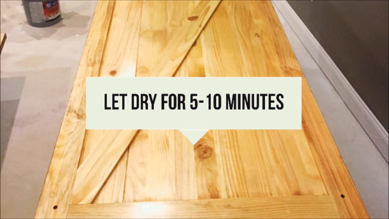 Staining and finishing a solid core pine barn door youtube for Yellow pine wood doors