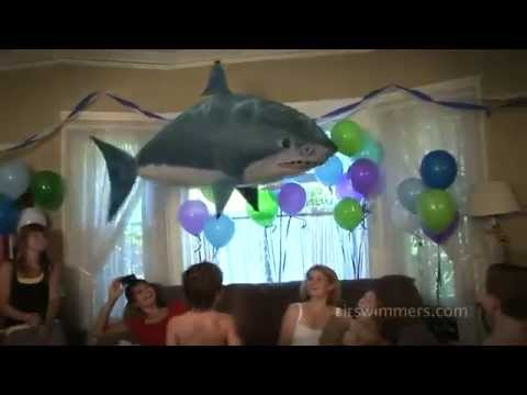 Fish and shark air swimmers by william mark corporation for Air swimming fish