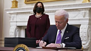 video: Joe Biden promises 'war-time' effort against coronavirus at launch of policy blitz