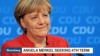 German Chancellor Angela Merkel Seeks Fourth Term