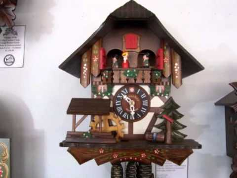 Lotscher Swiss Musical Cuckoo Clock with Dancers 2 Tunes