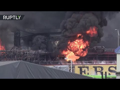 Flames devour 2 tankers in South Korean port of Ulsan