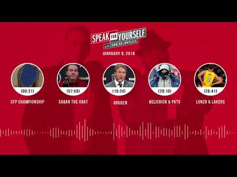 SPEAK FOR YOURSELF Audio Podcast (1.9.17) with Colin Cowherd, Jason Whitlock | SPEAK FOR YOURSELF
