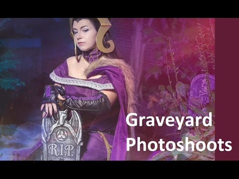 Graveyard Cosplay Photoshoots