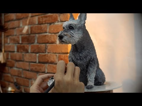 Romi - Sculpt your Dog with Clay - Timelapse (Schnauzer)