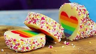 Surprise Cookies | Rainbow Heart Cookies | DIY Cakes, Cupcakes & More Desserts | Hooplakidz Recipes