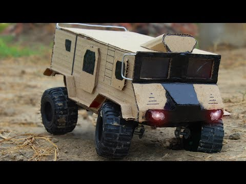 How to Make a Military Truck From Cardboard ! Powerful Truck !