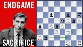 Endgame Sacrifice - Gligoric vs Fischer | Olympiad Siegen 1970 |