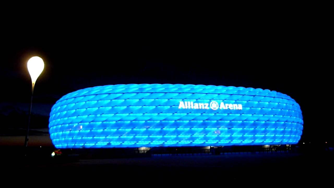Allianz Arena Changing Color At Night Youtube