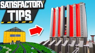Satisfactory Building Tips for making an AMAZING Base!