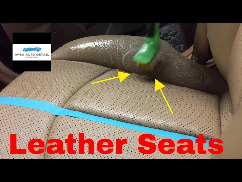 How to safely clean leather seats (diy)