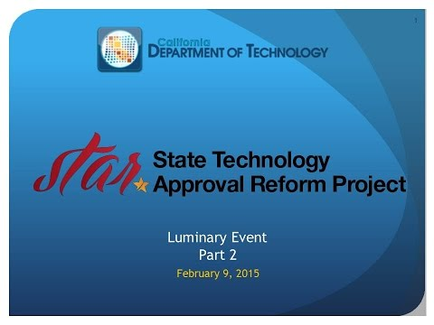 Q1 2015 Luminary Event - The State Technology Approval Refor