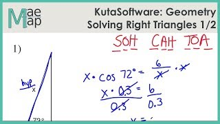 Kutasoftware Geometry Solving Right Triangles Part 1 Youtube