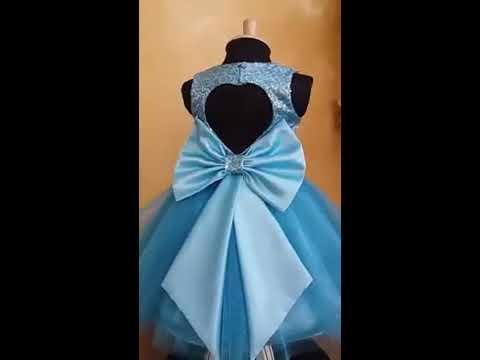 2c845986e Vestido de fiesta para niña de Alta Costura - YouTube