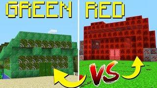 GREEN STEVE HOUSE VS RED STEVE HOUSE